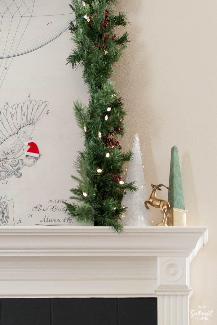 Simple Christmas mantel inspiration