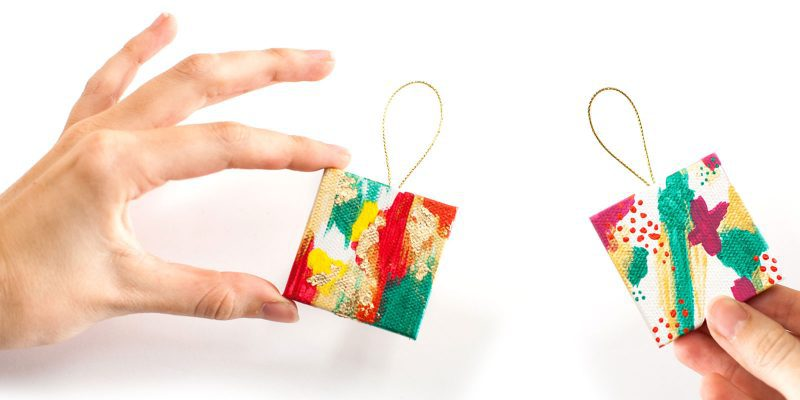 Eclectic Ornaments of Christmas: DIY Miniature Abstract Ornaments