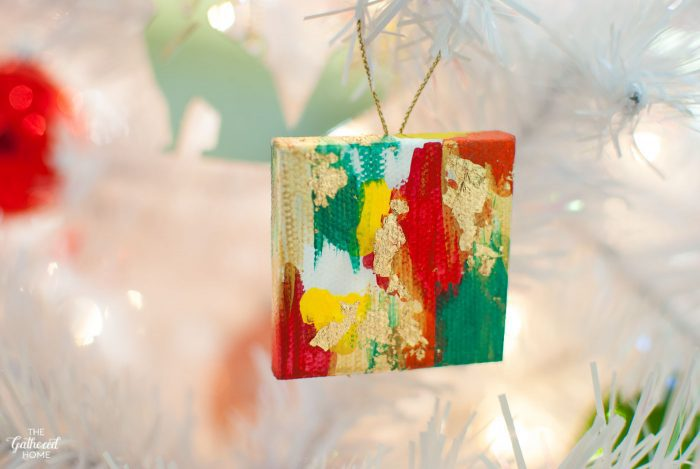 DIY Miniature Abstract Painting Canvas Ornaments