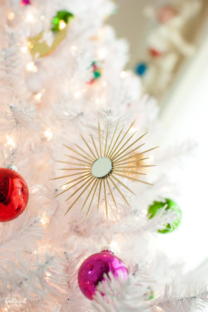 DIY Mini Sunburst Mirror Christmas Ornaments