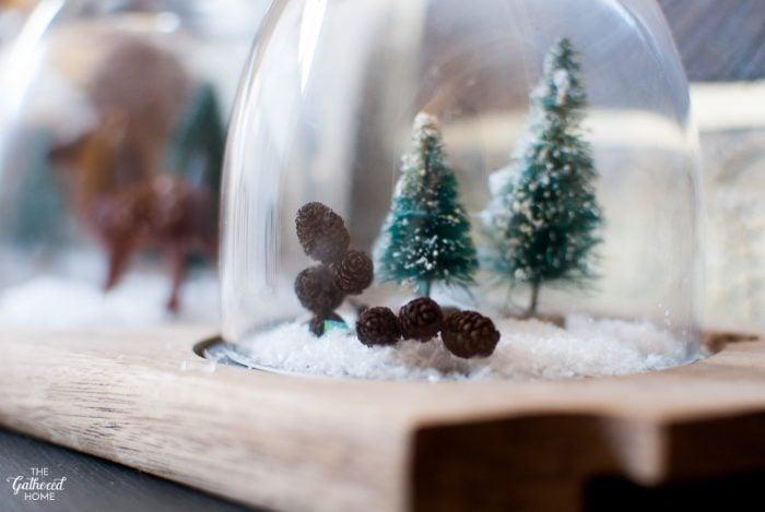 "Mini Christmas ""snow globe"" displays"
