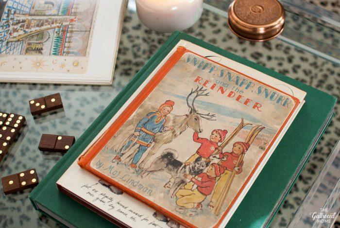 "Vintage copy of ""Snipp, Snapp, Snurr and the Reindeer"" by Maj Lindman"