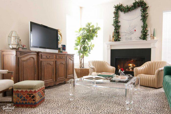 The Gathered Home's Christmas living room decor