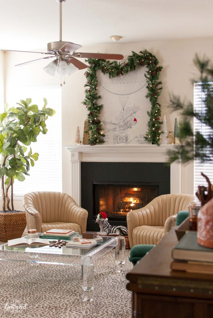 Vintage Eclectic Christmas Home Tour - the living room