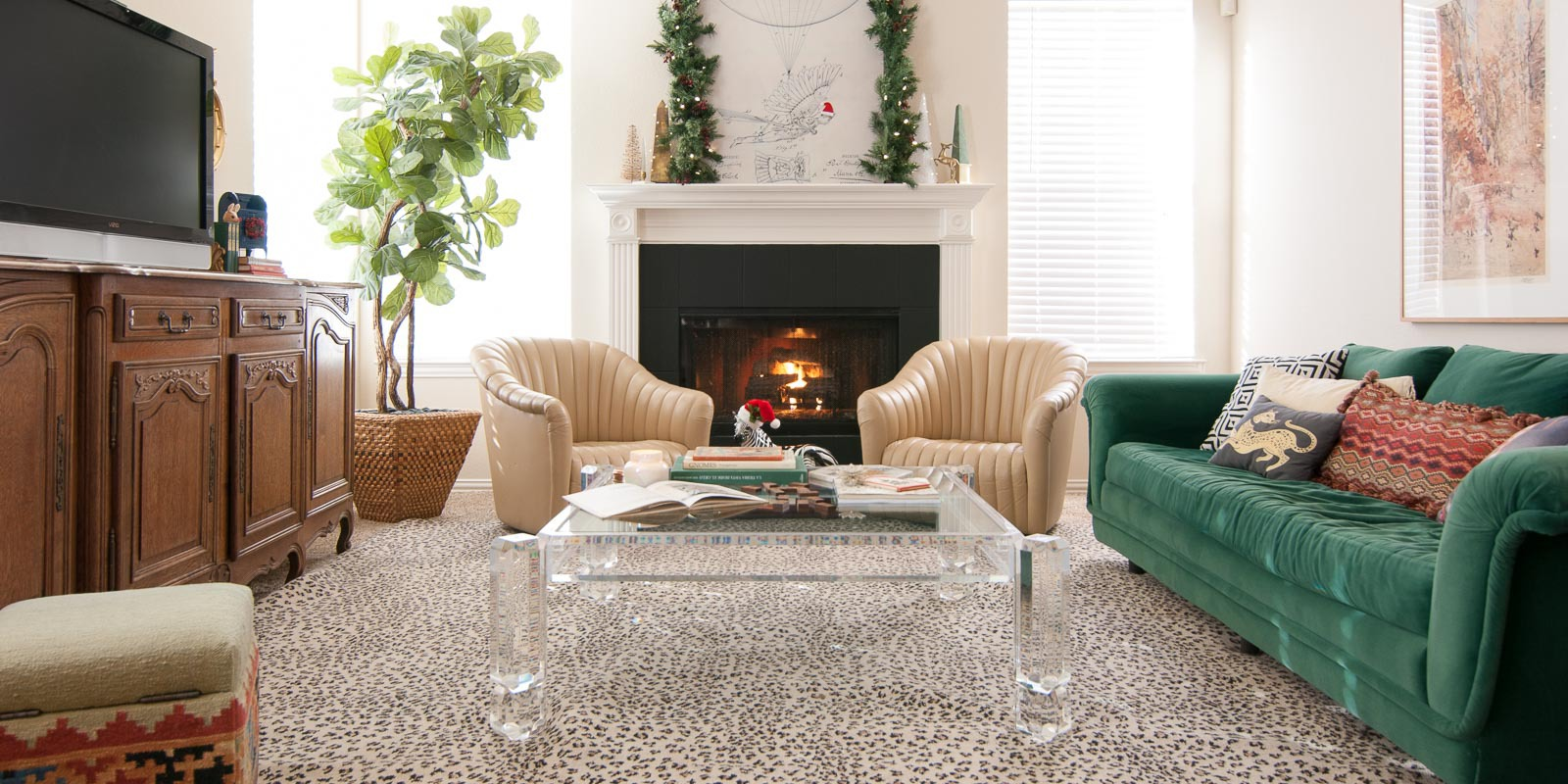 An Eclectic Indian Home Tour: Vintage Eclectic Christmas Home Tour