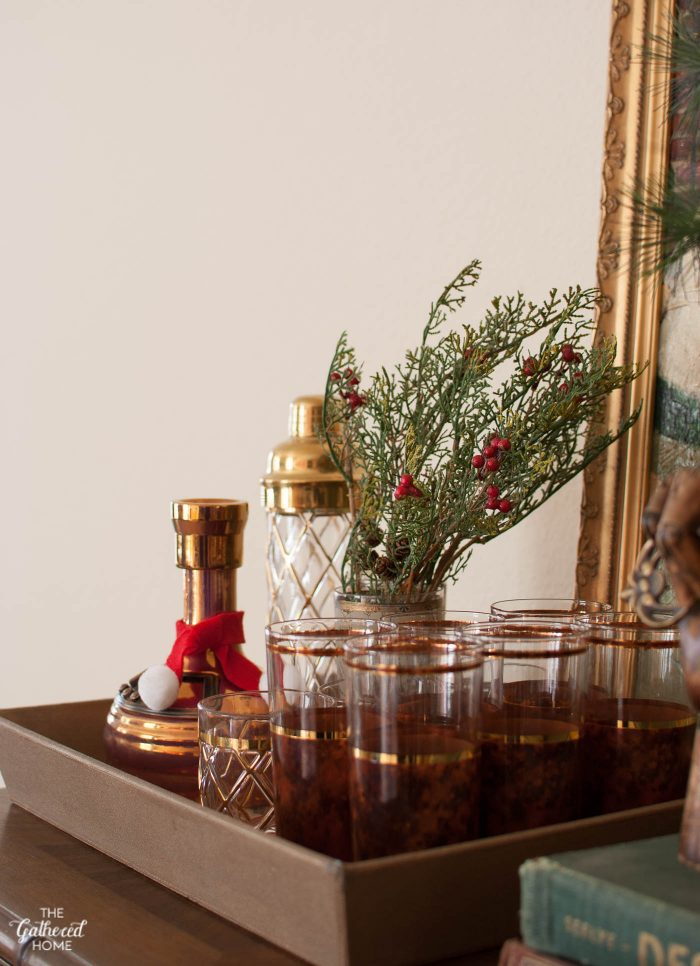 It's the little things: Christmas touches in the bar area