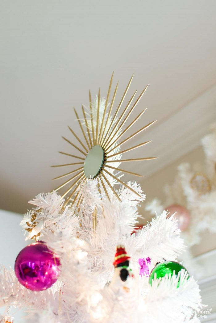 DIY Sunburst Mirror Tree Topper