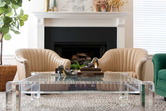 DIY Painted Tile Fireplace Surround - give a dated tile fireplace surround a facelift with this easy tutorial!