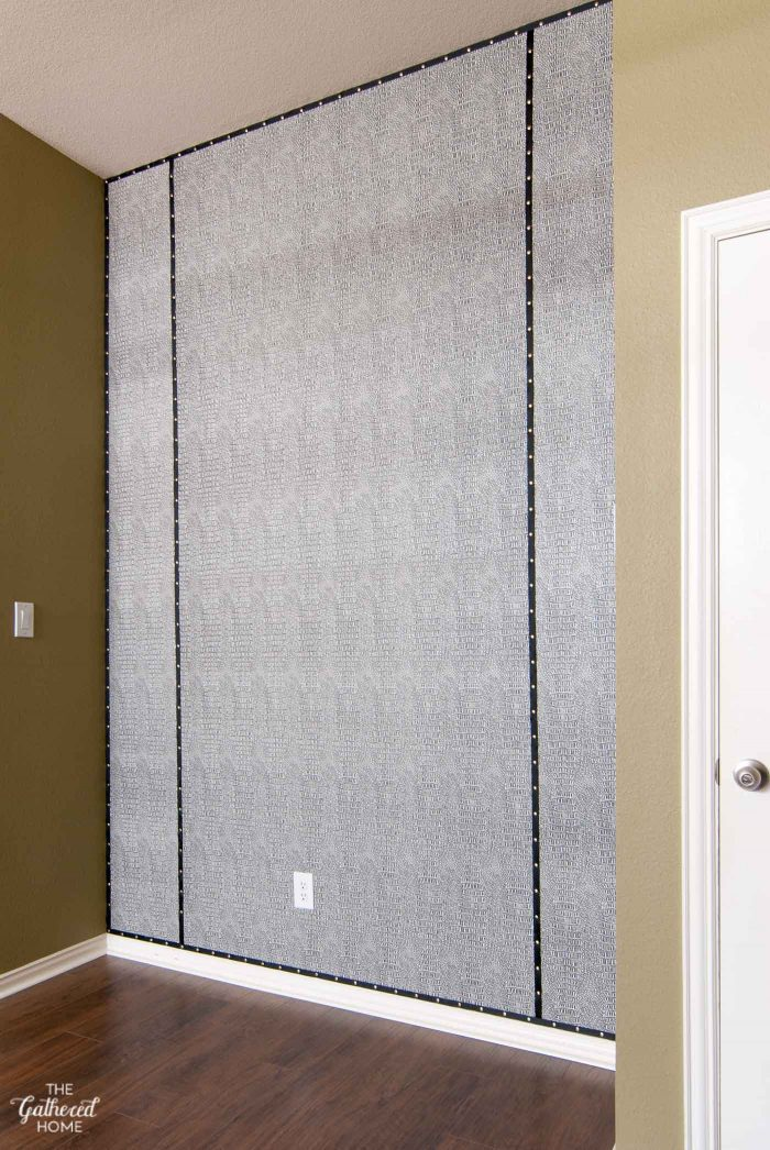 Fabric Wall Trim : Master bedroom update reptile in the house gathered