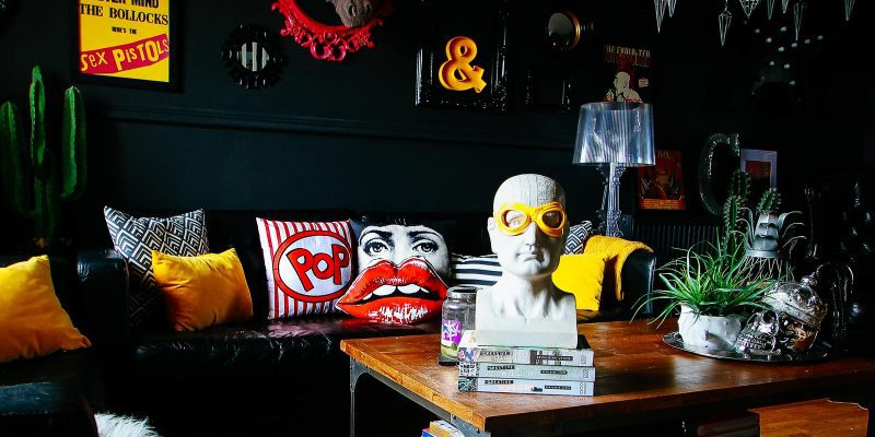 Your Gathered Home: A Rock & Roll Glam Flat in the UK