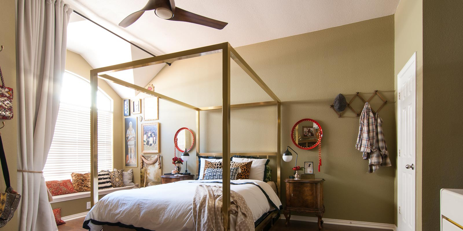 Master Bedroom Makeover A Fan Tastic Finishing Touch The Gathered Home