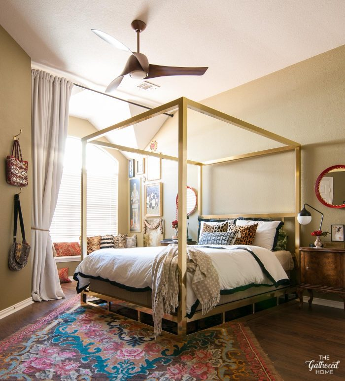 Master Bedroom Makeover: A Fan-tastic Finishing Touch - The Gathered ...
