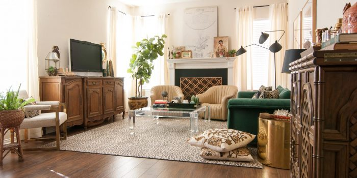 a gathered eclectic living room reveal the gathered home 74841