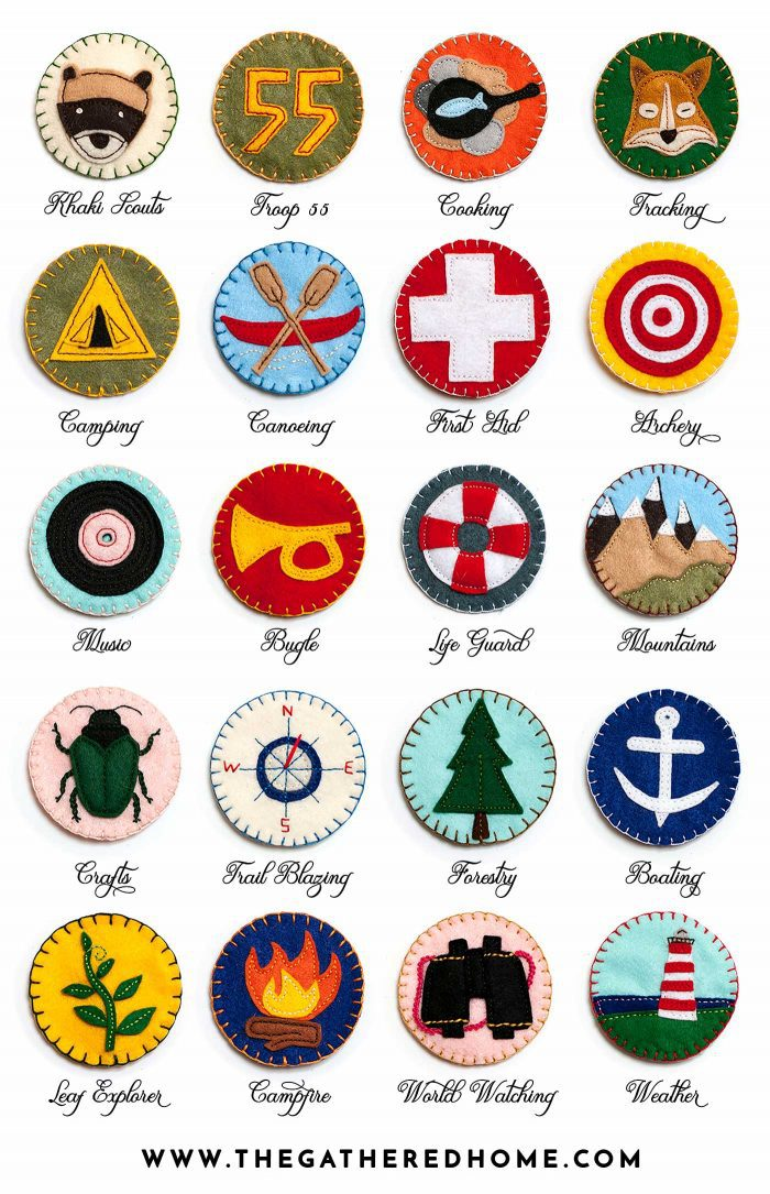 This blogger made a set of DIY felt ornaments inspired by the Khaki Scouts in Wes Anderson's Moonrise Kingdom! Must see!