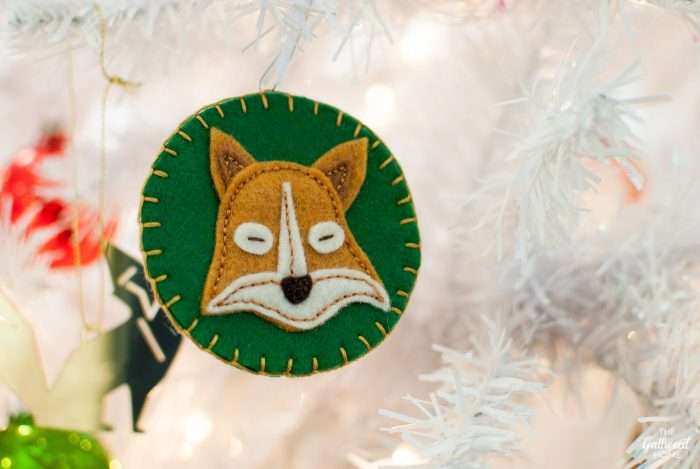 DIY fox face ornament stitched out of felt | The Gathered Home