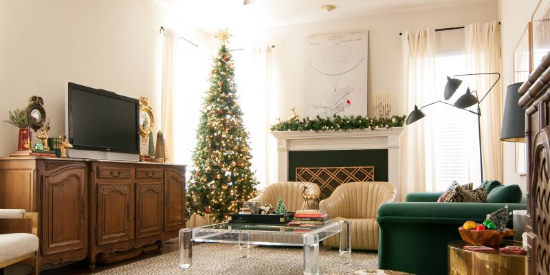 My Home Style: Eclectic Gathered Glam Christmas Tree