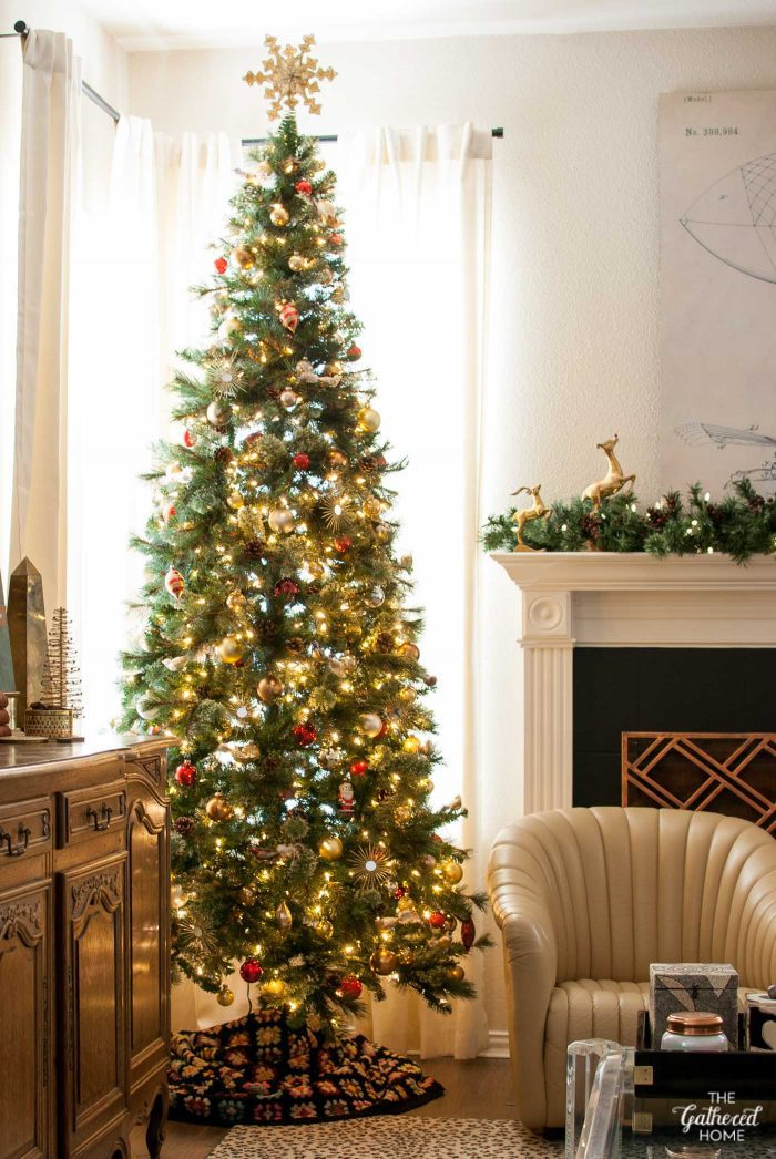 My Home Style Eclectic Gathered Glam Christmas Tree The Gathered Home