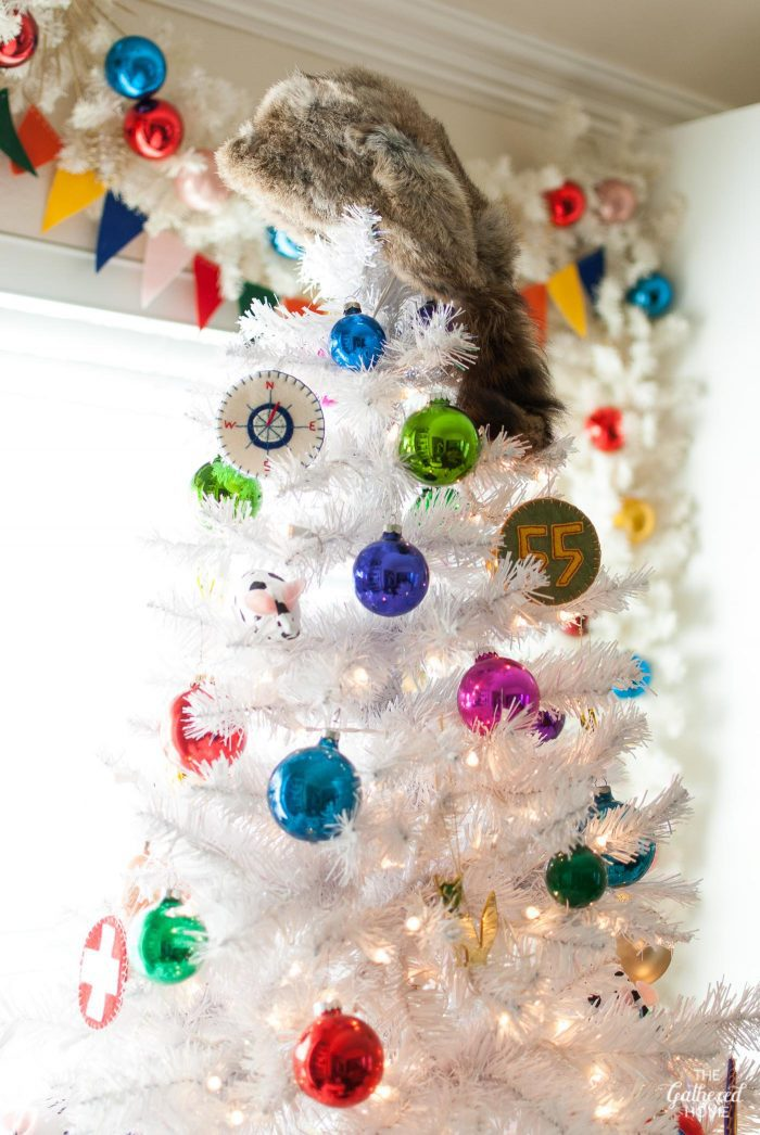 This Moonrise Kingdom-inspired Christmas tree used a raccoon cap as a tree topper! A must-see for Wes Anderson fans.